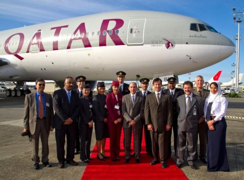 Qatar 777 Delivery Ceremony