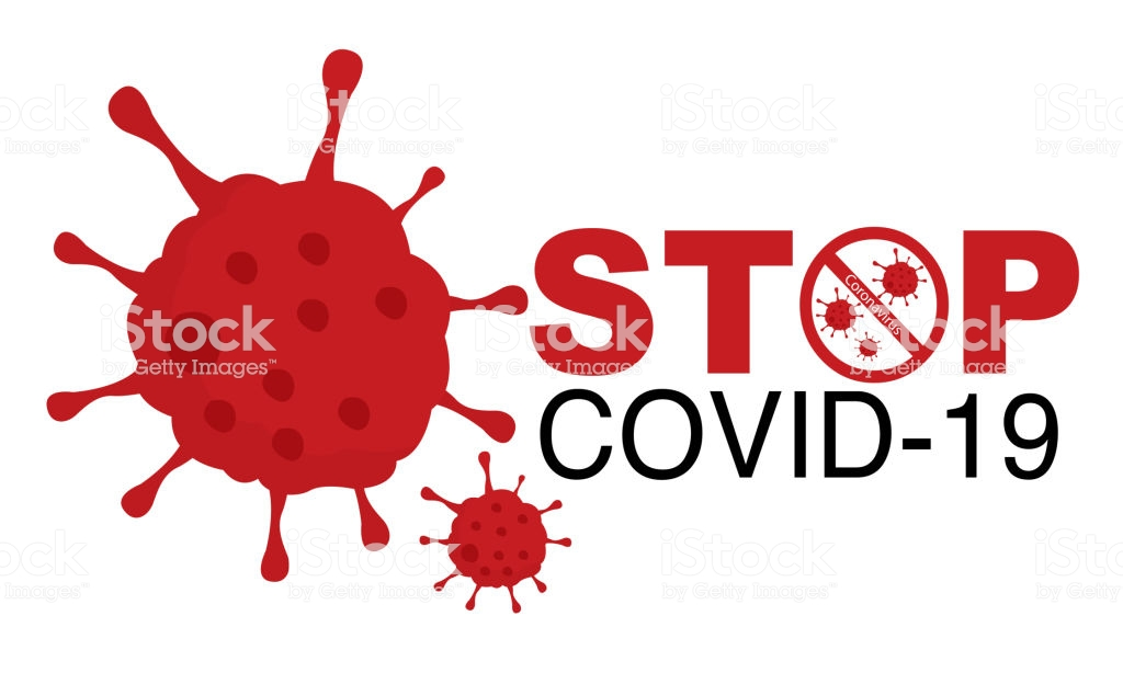 Covid-19 or Coronavirus concept. Stop Covid-19 Sign and Symbol. vector Illustration concept Coronavirus COVID-19. Coronavirus 2019-nCoV Stop that cause mysterious viral in China (Wuhan City).